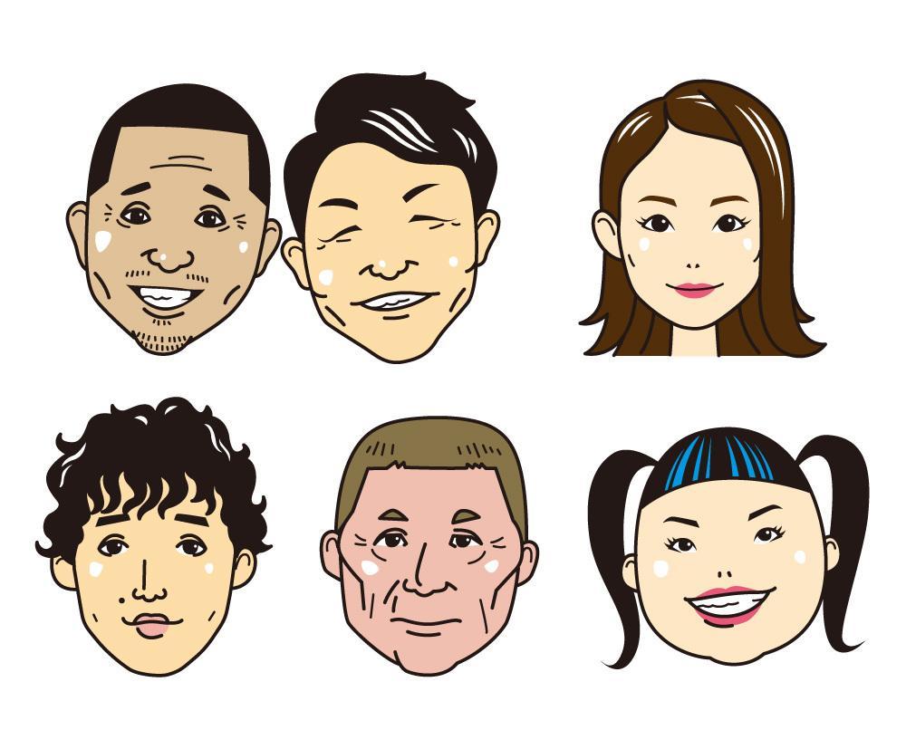 シンプルな似顔絵描きます ゆるさがちょうどいいかも。SNSのアイコンや名刺などにどうぞ