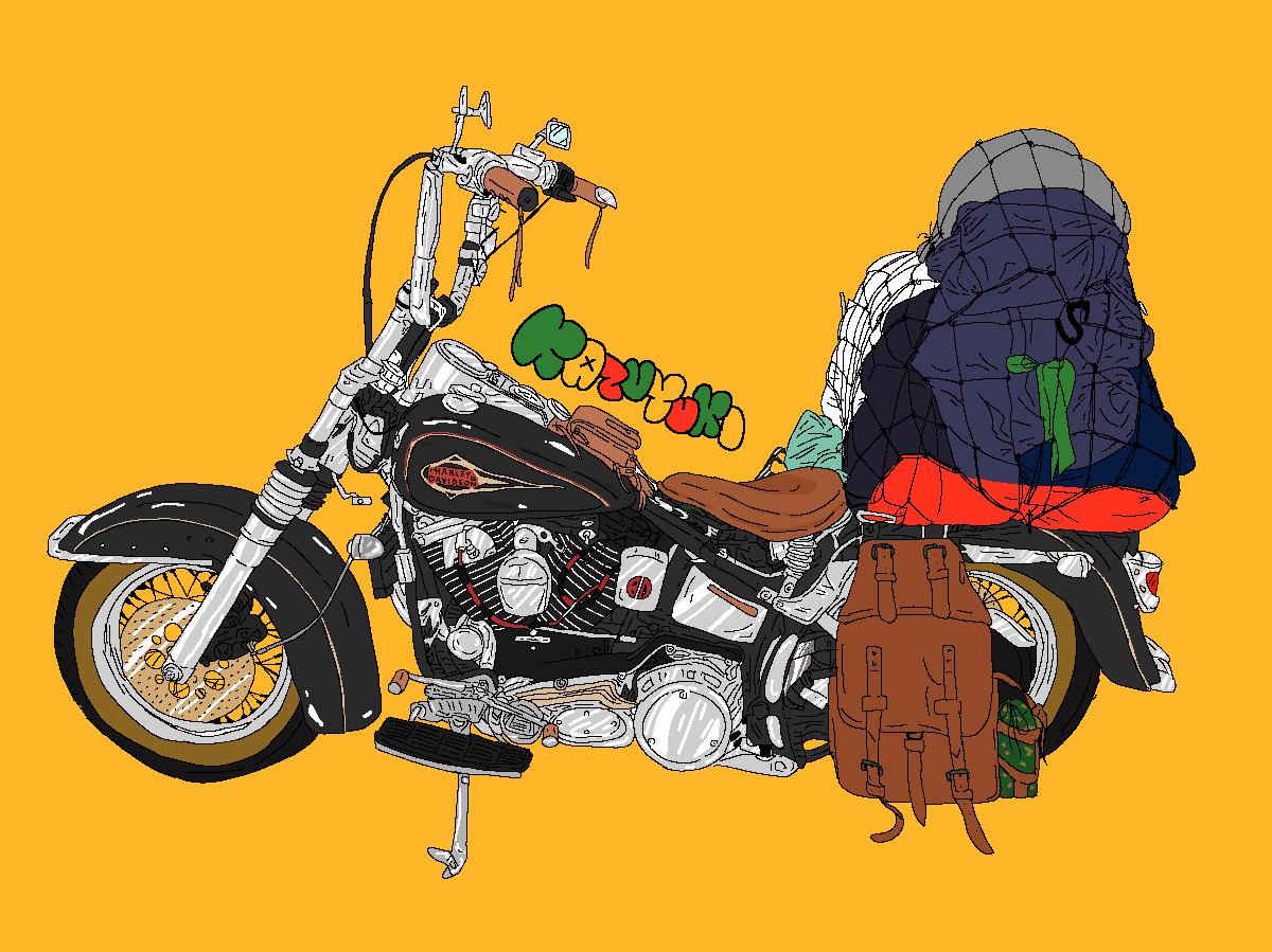 バイク・車のポップでそっくりなイラスト描きます 手書き感がポイント!ヘッダーやアイコンなどに♪
