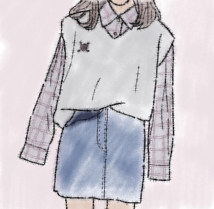 あなたのファッション手書きイラストにします 自分だけのアイコン、スマホケース。そのデザイン私が描きます!