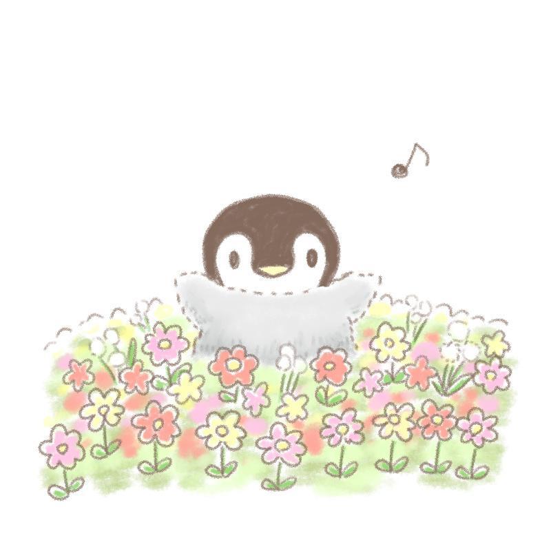 可愛い赤ちゃんペンギンのイラストを描きます ほのぼの優しいタッチのアイコンに癒されませんか♪ イメージ1