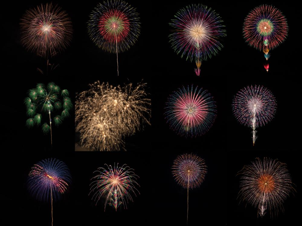打ち上げ花火の写真12枚販売します デザインの素材としてご利用ください。 イメージ1