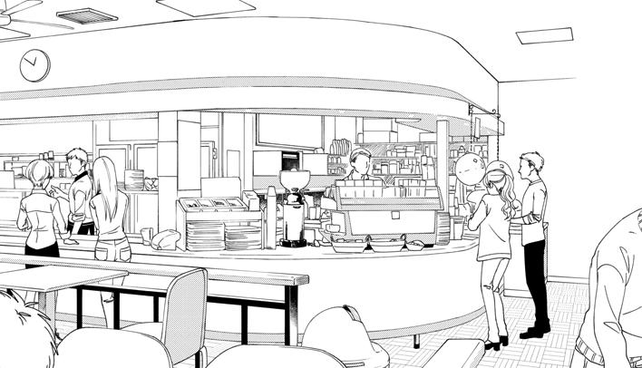 漫画用モノクロ背景描きます めんどくさい背景の作画をお手伝い