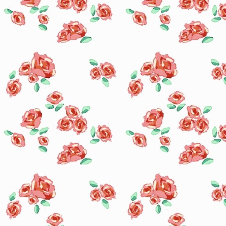かわいい背景パターンつくります 花柄、チェック柄、水彩風、ご希望に沿った背景つくります!
