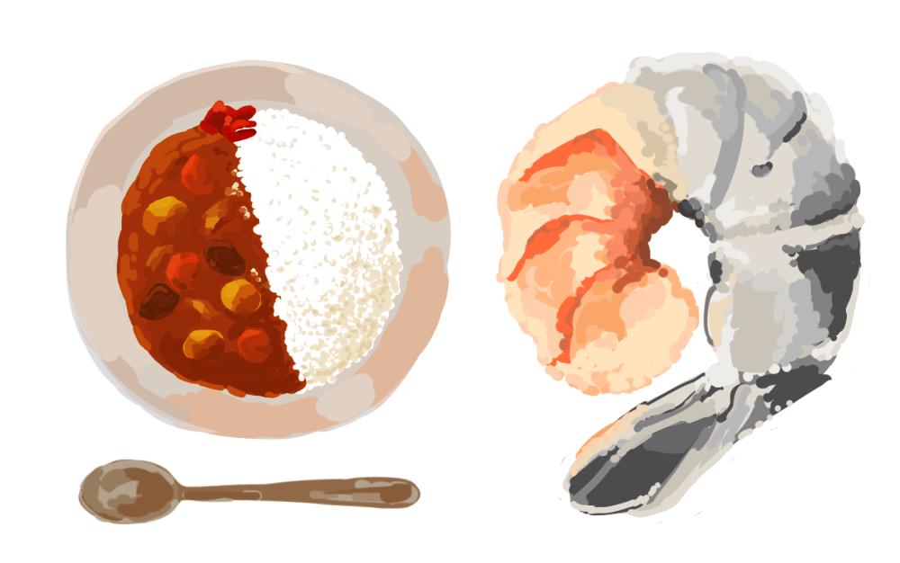 食べ物の柄を描きます アイコンや背景などにお使いいただけます。