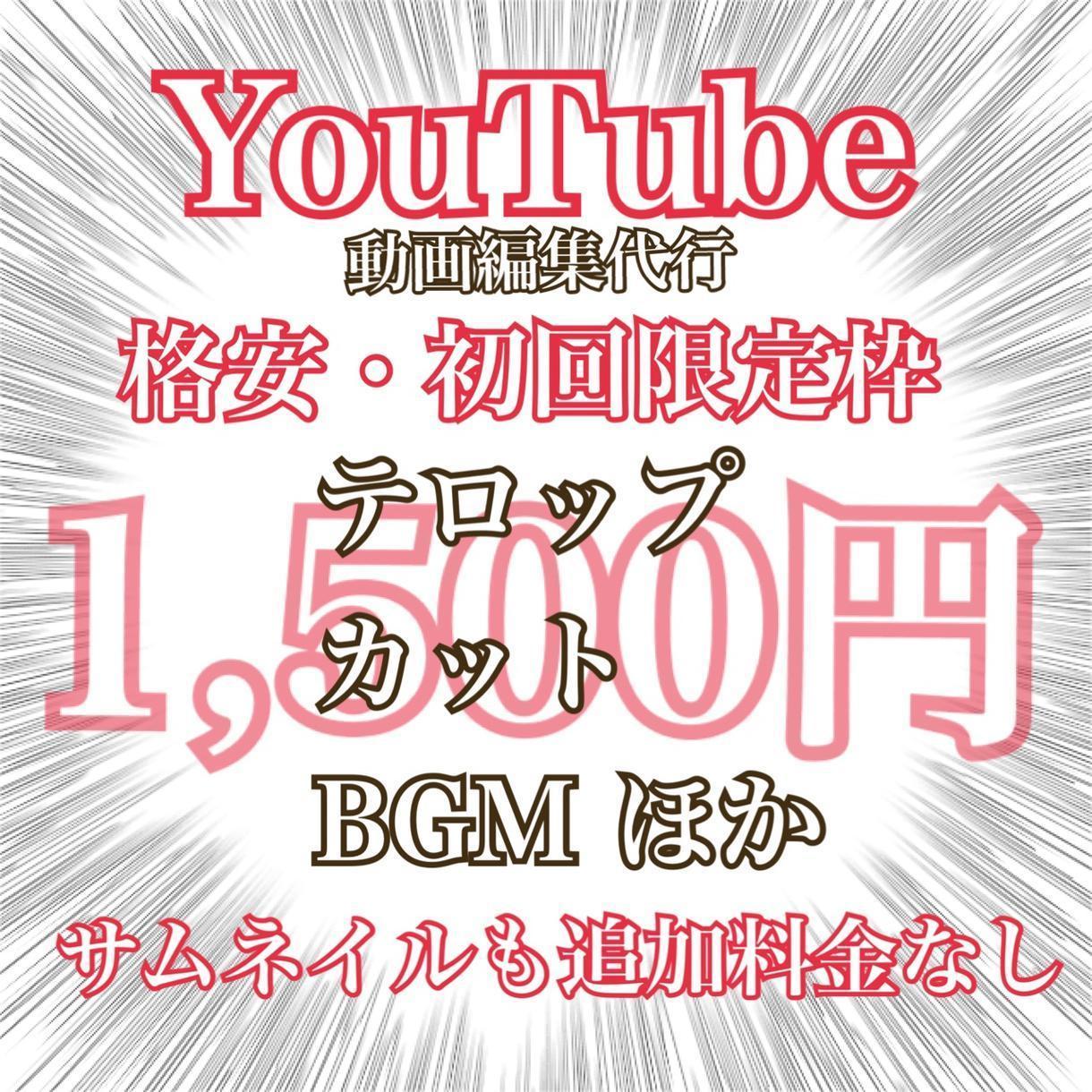 YouTubeやPR、SNS用の動画編集を承ります 迅速かつ丁寧に心を込めてサービスを提供出来ます! イメージ1