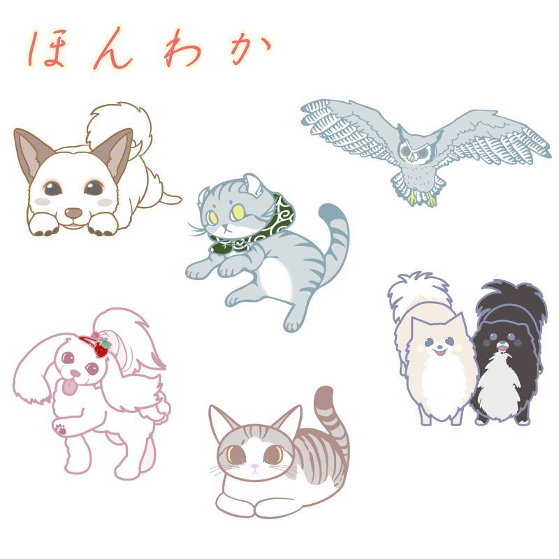 SNS用アイコンイラストお描きします ペットのキャラクター化)爬虫類、猛禽類Ok!