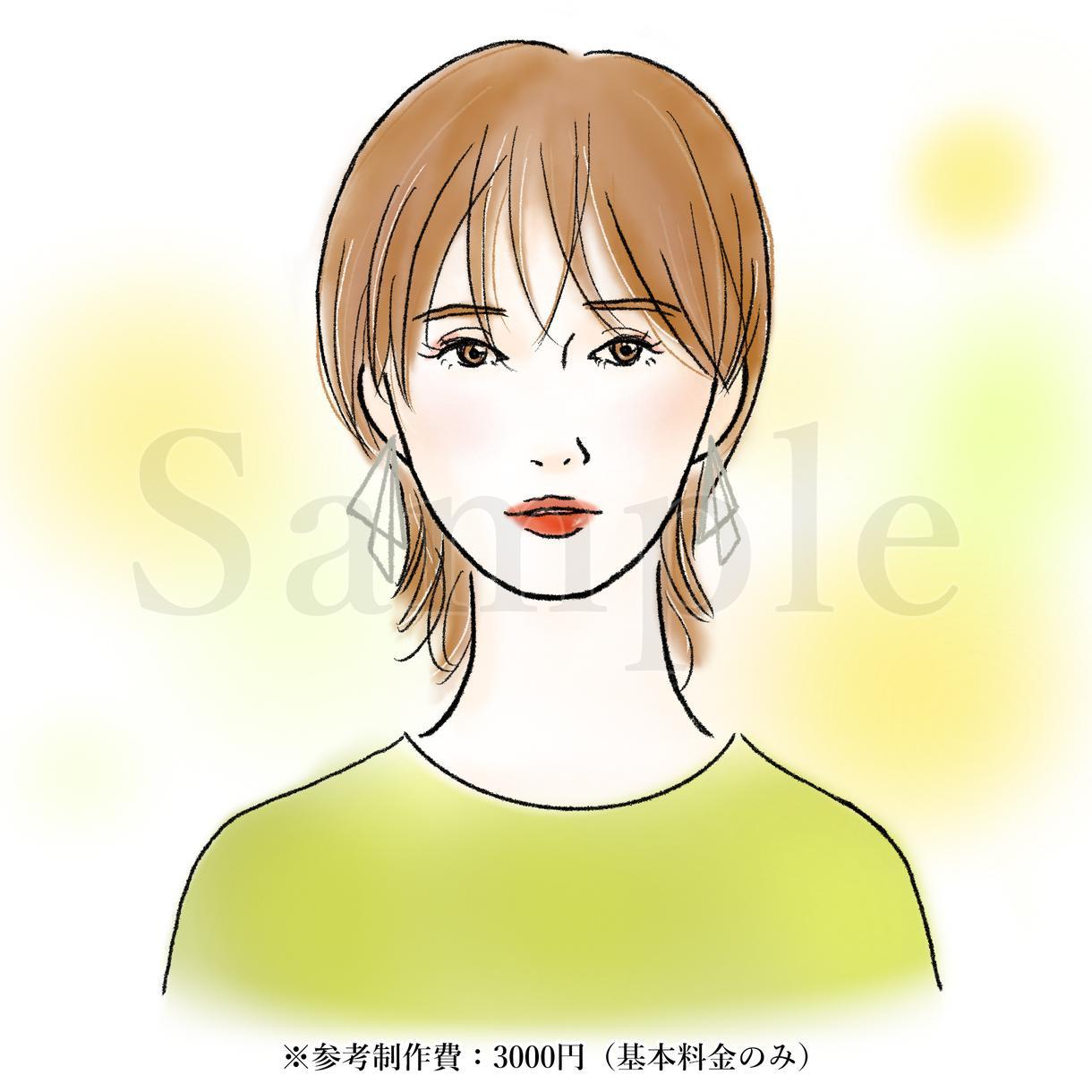 美容・ビューティ向け 女性イラスト描きます ナチュラルで綺麗な女性のカットイラストをお探しの方へ! イメージ1