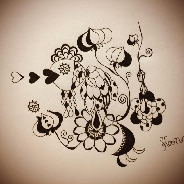 変わったイラスト描きます 黒ボールペンで変わったイラスト描きます。