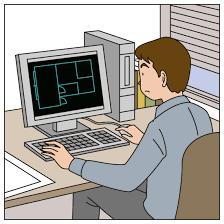 JWを使いCADデータ作成致します JWCADを使用し、図面作成、トレースなどを行います。