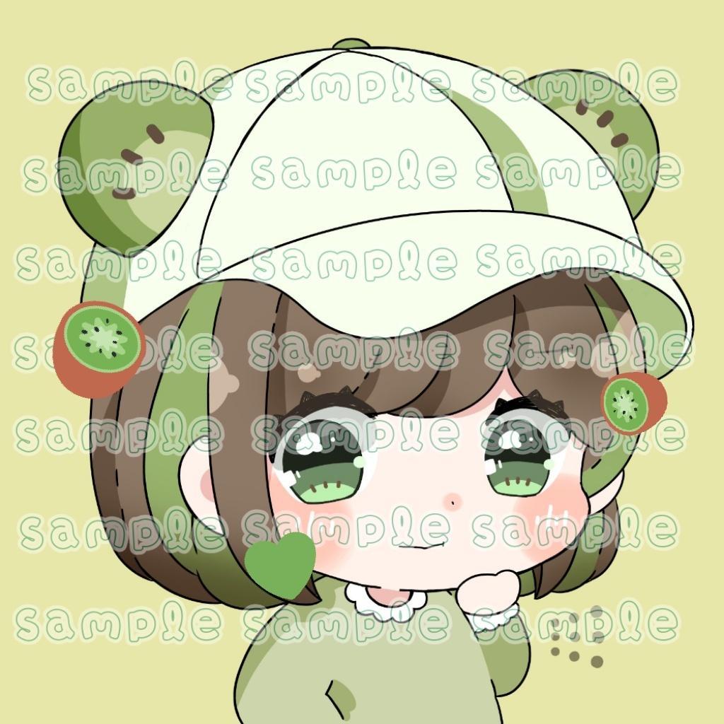 ぷにぷにのミニキャラSNS用アイコン描きます シンプルで使いやすく可愛い!! イメージ1