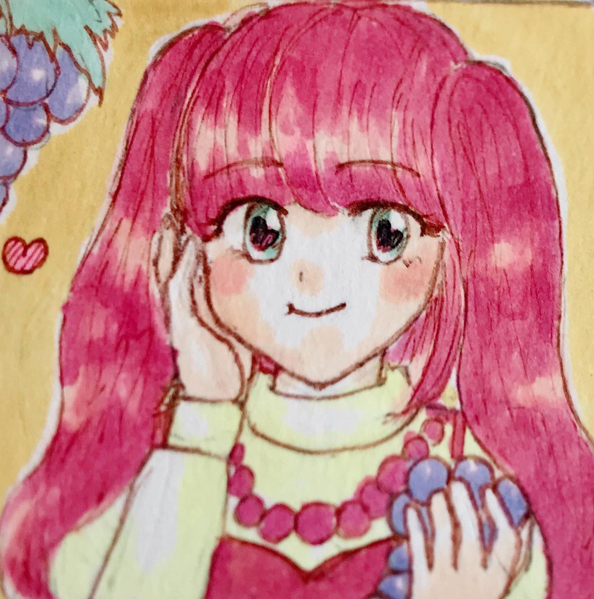 コピックを使ったアイコン描きます 可愛い、優しい雰囲気のイラスト*似顔絵もOKです
