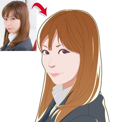 似顔絵 ■写真を参考にアニメ風のイラストを描きます SNSアイコン・名刺・プレゼント等、色々な用途に
