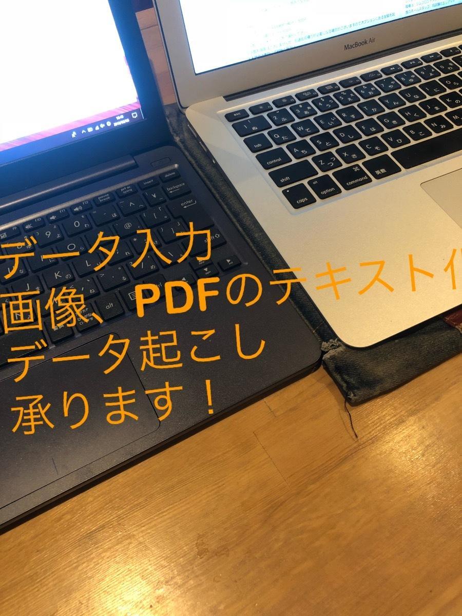 データ入力、画像、PDFのテキスト化致します エクセル作成、面倒な作業引き受けます!ご予算は相談可能! イメージ1