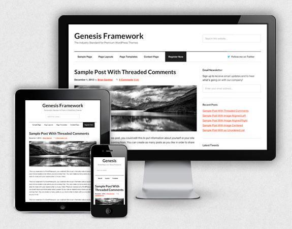 Genesisフレームでウェブサイト制作します 全世界で最も人気のあるフレームでウェブサイト、ブログ制作