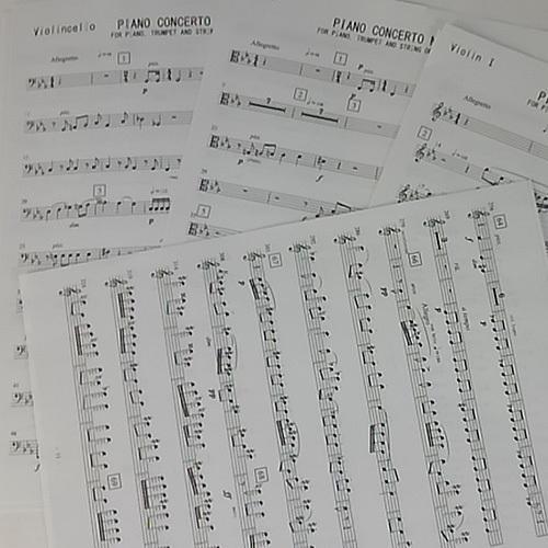 オーケストラスコアからパート譜作成します きれいなオーケストラパート譜に仕上げます
