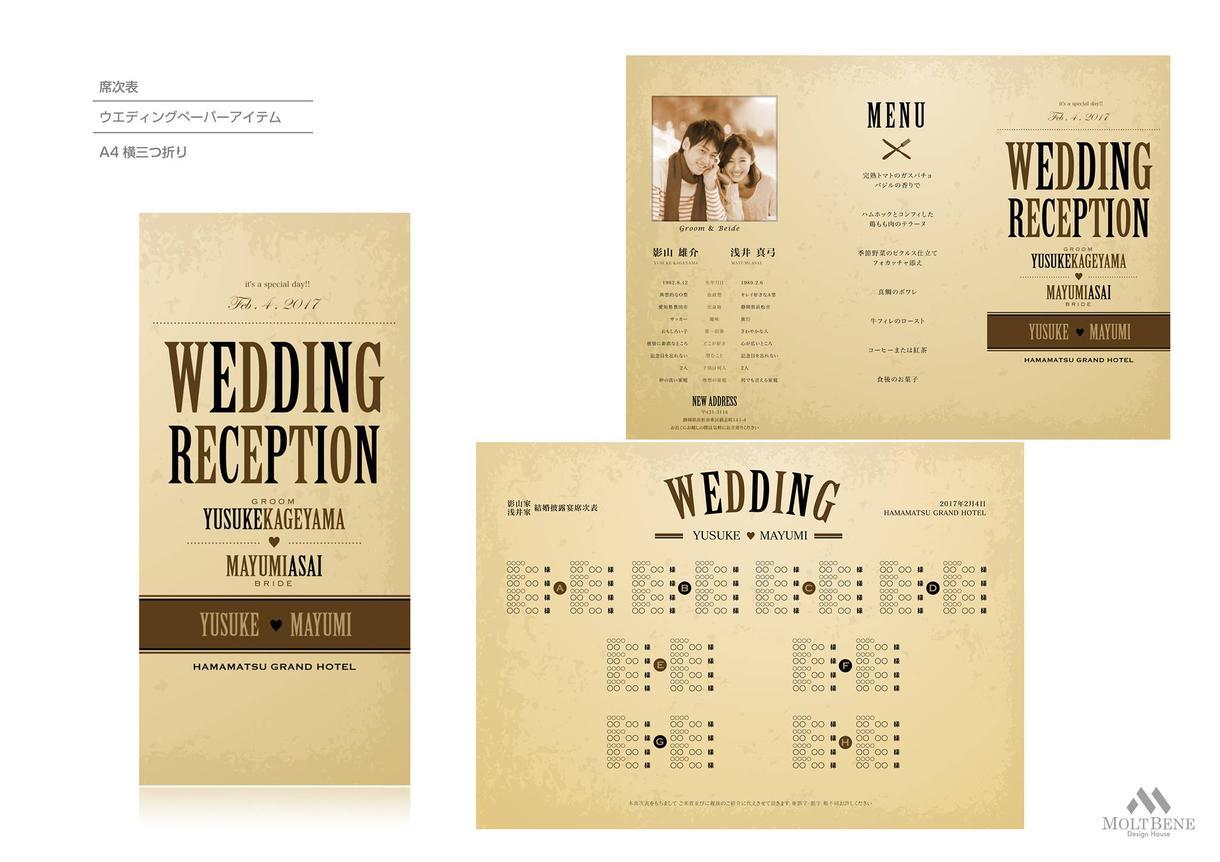 【結婚式の世界観作り】ウエディング ペーパーアイテムなど デザインします!