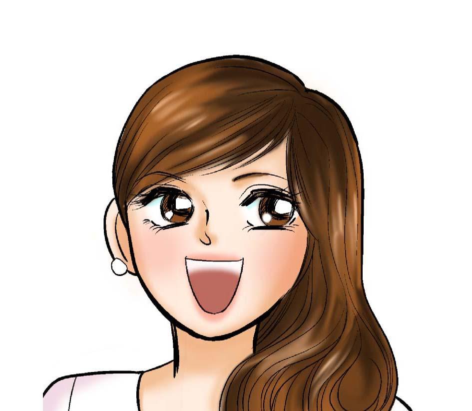 漫画タッチの似顔絵描きます 記念、贈り物、SNSのアイコンとして漫画タッチの似顔絵を!