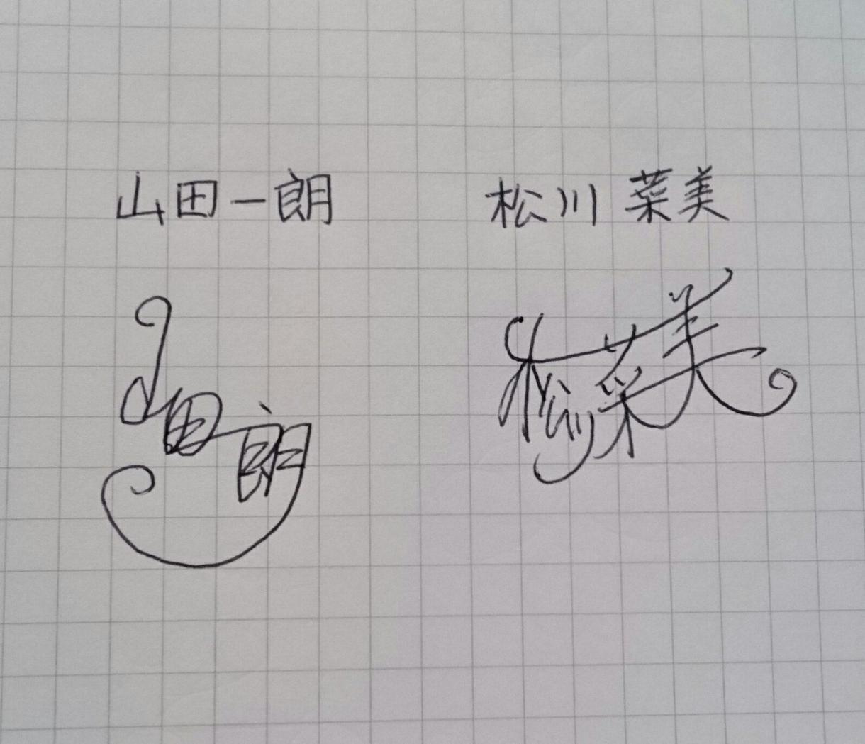 サインのご提案を致します 漢字やひらがなの手書き用サインをご提案します。