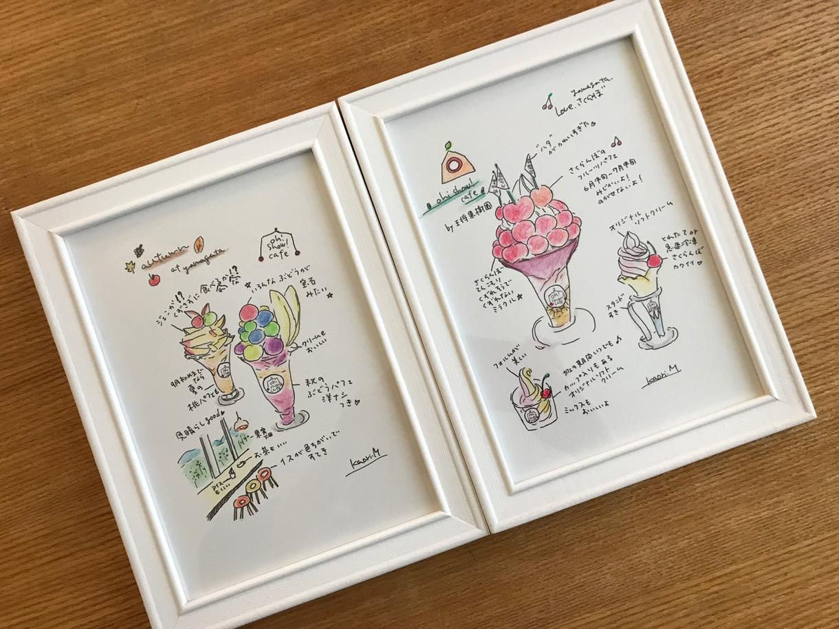 旅やお出かけの思い出をコメントつきイラストにします 飾って楽しんだりプレゼントにもぴったり お店のPRにも☆