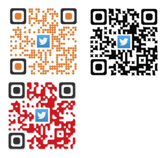 ロゴ入りもOK!4種類のQRコードを作ります あなたのページに来て貰えるQRコード作ります! イメージ1