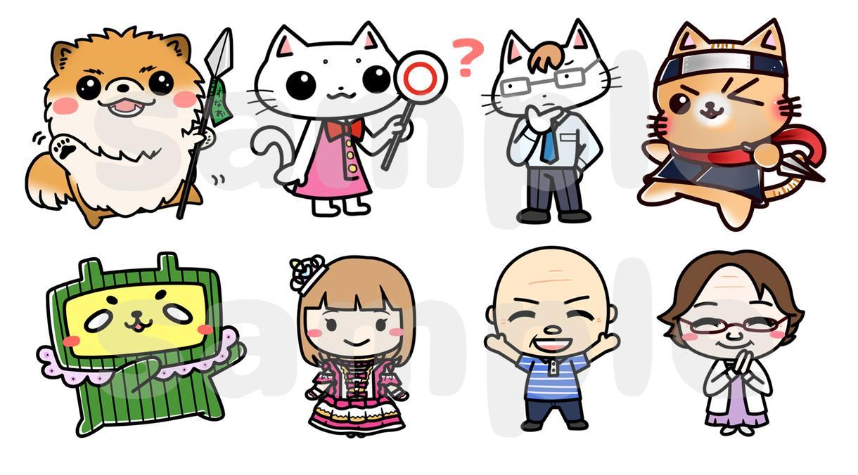 動物や人間キャラのデフォルメイラスト描きます SNSのアイコンやブログに載せる絵を描かせてください!