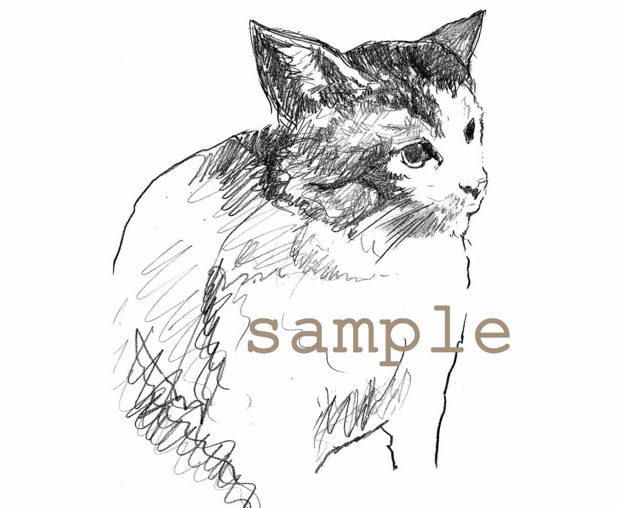 ちょっとオシャレに。ペットちゃんのイラストをお描きします!