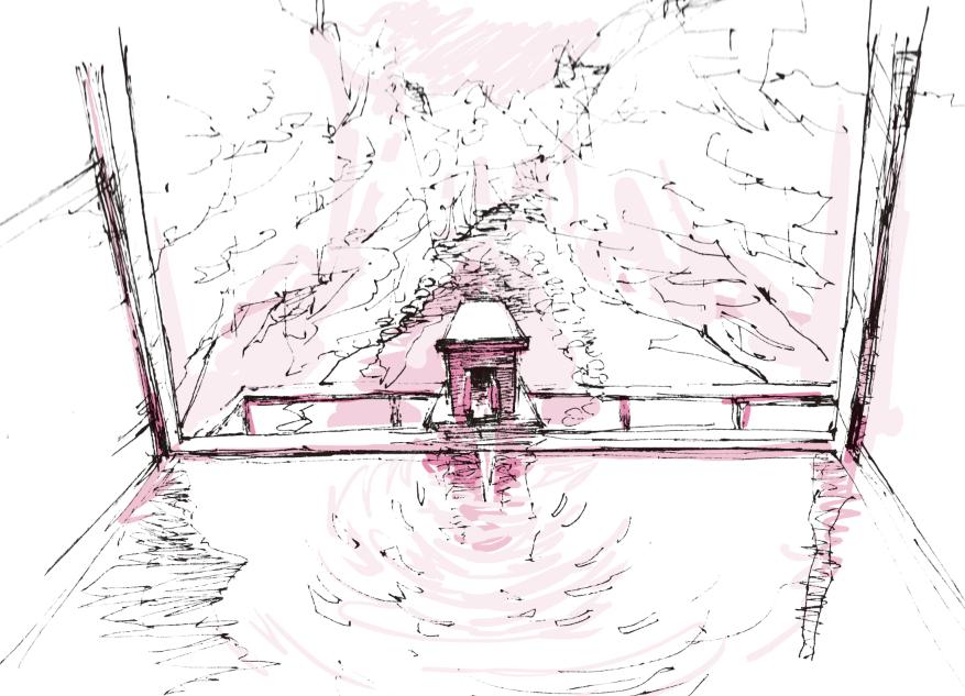 お気に入りの場所の風景スケッチ描きます お気に入りの場所の風景スケッチ描きます