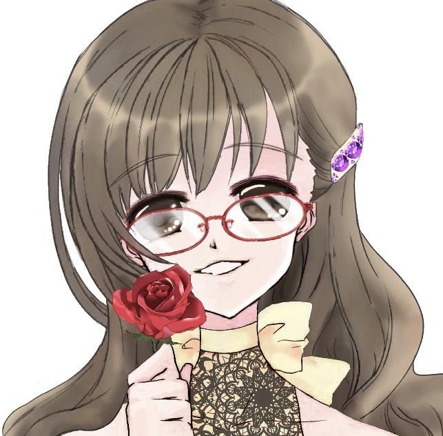 SNSなどに使えるアイコン作成します きらきらした可愛い雰囲気の女の子を描きます