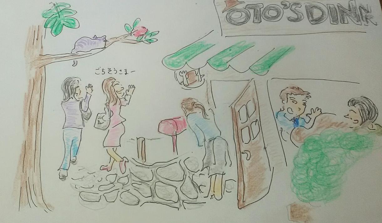 飲食店の紹介イラストを描きます お店の雰囲気、おすすめメニューなどを旅行記のように。 イメージ1
