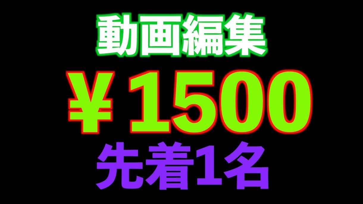 先着1名★1500円で動画編集します ココナラ初心者で流れ確認のため、格安で動画編集します! イメージ1