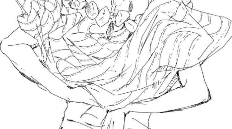 人物イラストの首から下の線画を描きます 貴方が描いたイ人物ラストの首から下の線画を描きます