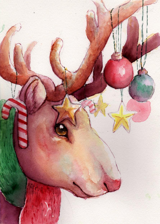 水彩であったか可愛い動物の絵描きます 動物の似顔絵、イラスト、キャラデザなど水彩で描きます