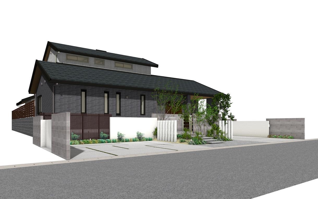 注文住宅の外構設計・デザインします デザインコンクール銀賞受賞!マイホームを素敵に演出します! イメージ1