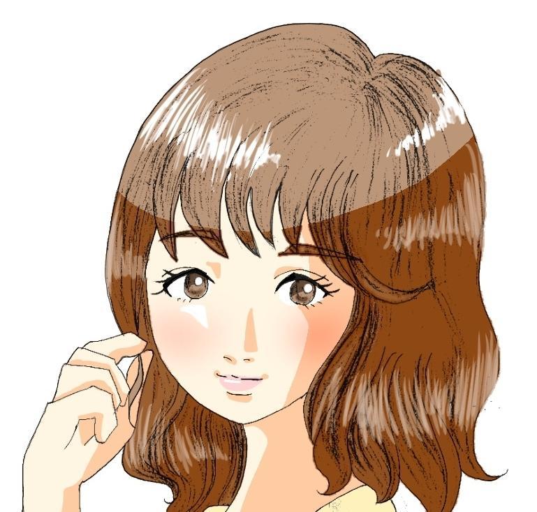 手描き感のある『きれいめ美人イラスト』お描きします SNSアイコンやプロフィール用、観賞にいかがですか?
