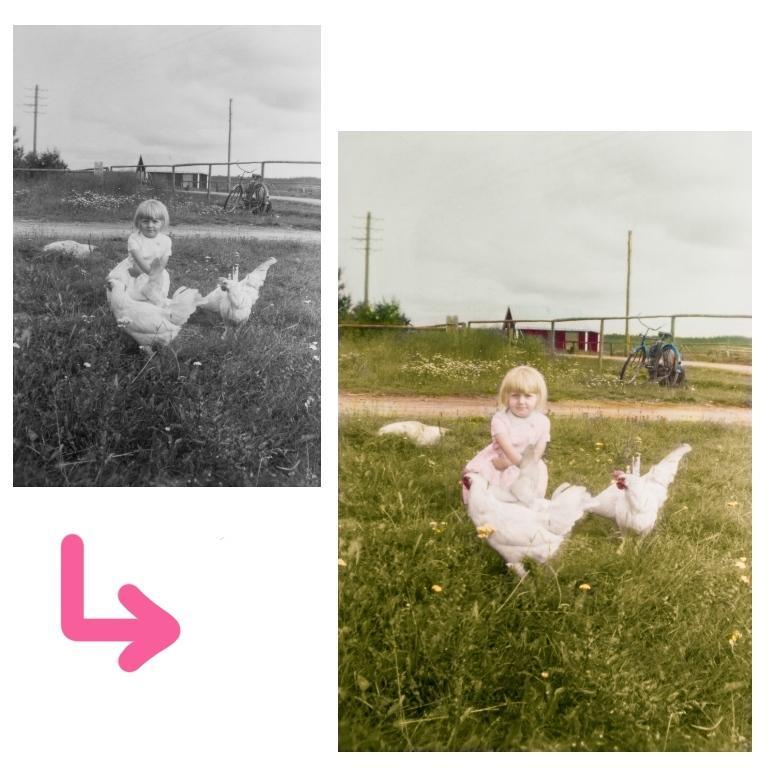 モノクロ写真をカラー化します 大切な古い写真を鮮やかに蘇えらせます イメージ1