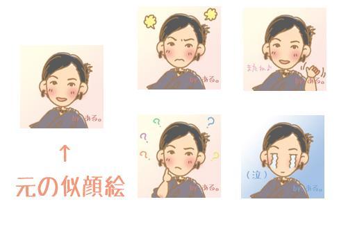Lineで使える【似顔絵スタンプ】4種類作成します 自分だけの、オリジナルスタンプで、会話が弾む♪