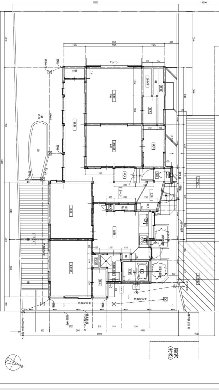 CADで間取図 平面図 作図 トレースします 古い 見ずらい 手書き図面を 新しい見やすい綺麗な図面に!
