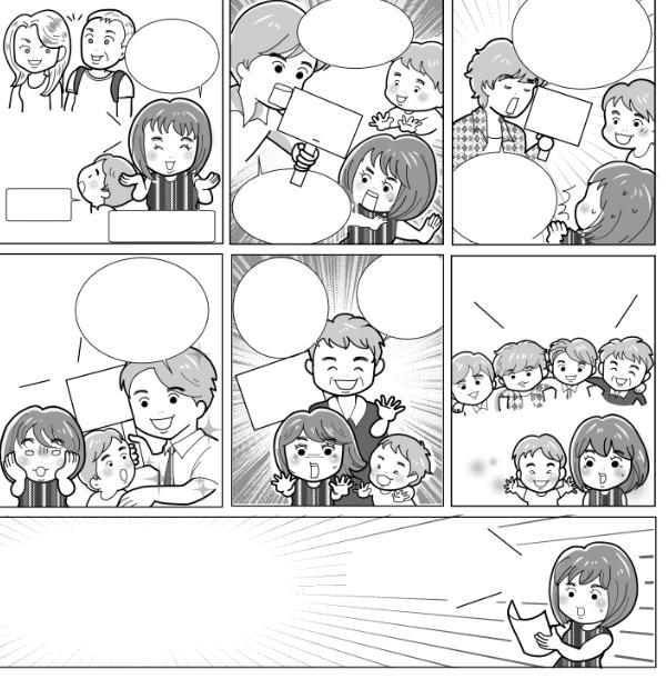 わかりやすい広告漫画制作依頼お受けいたします 関西テレビ「報道ランナー」出演、紹介されました! イメージ1