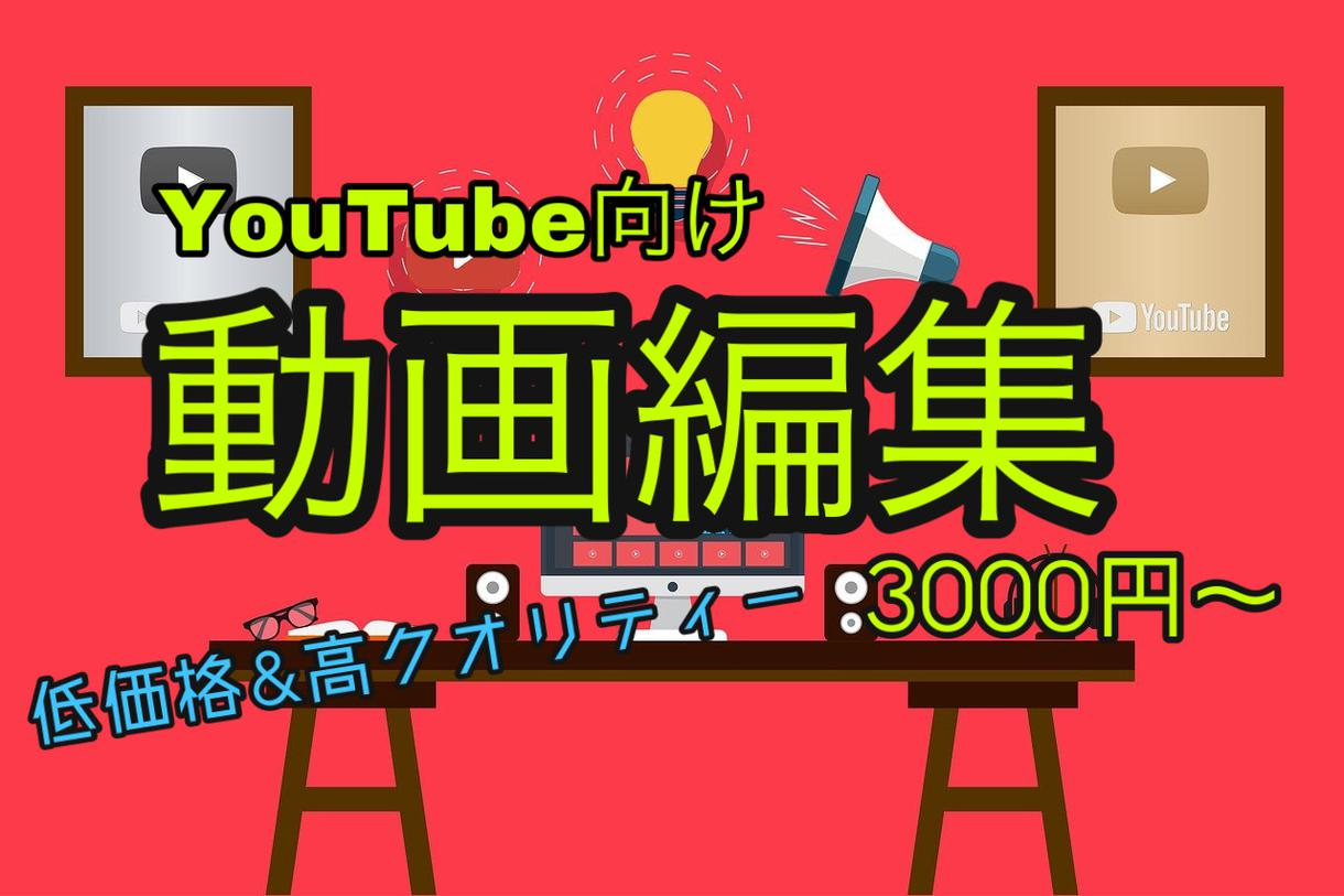 YouTube向け動画編集承ります YouTube向けに高クオリティーな動画編集を致します!! イメージ1