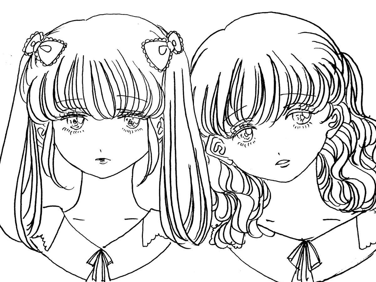 サンプル・かわいい美少女イラスト描きます SNSやtwitterのアイコンなどに♡24時間以内納品!