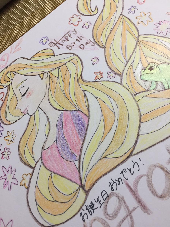 色紙を送る相手の好きなキャラクターを色紙に書きます 誕生日、サプライズ、記念日などなど