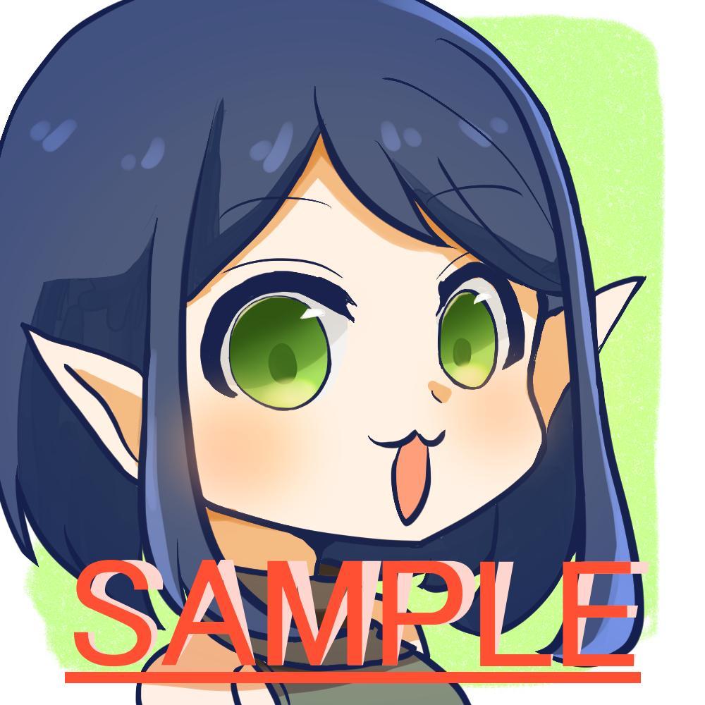 アニメ塗りのかわいいアイコンお描きします 新しいアニメ塗りのアイコンが欲しい人におすすめです