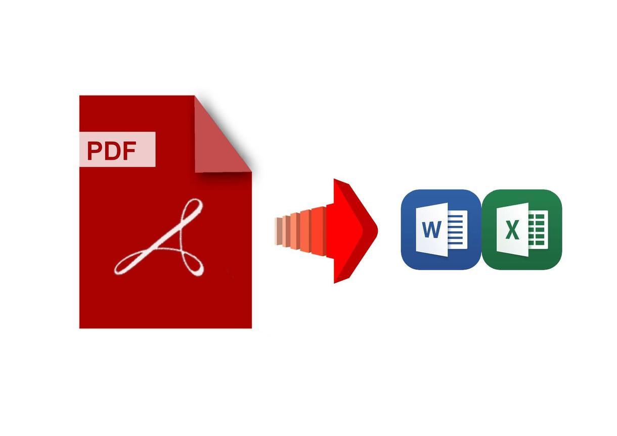 PDFデータをエクセル・ワードへ変換します !システムエンジニアがあなたの大切なデータを変換します! イメージ1
