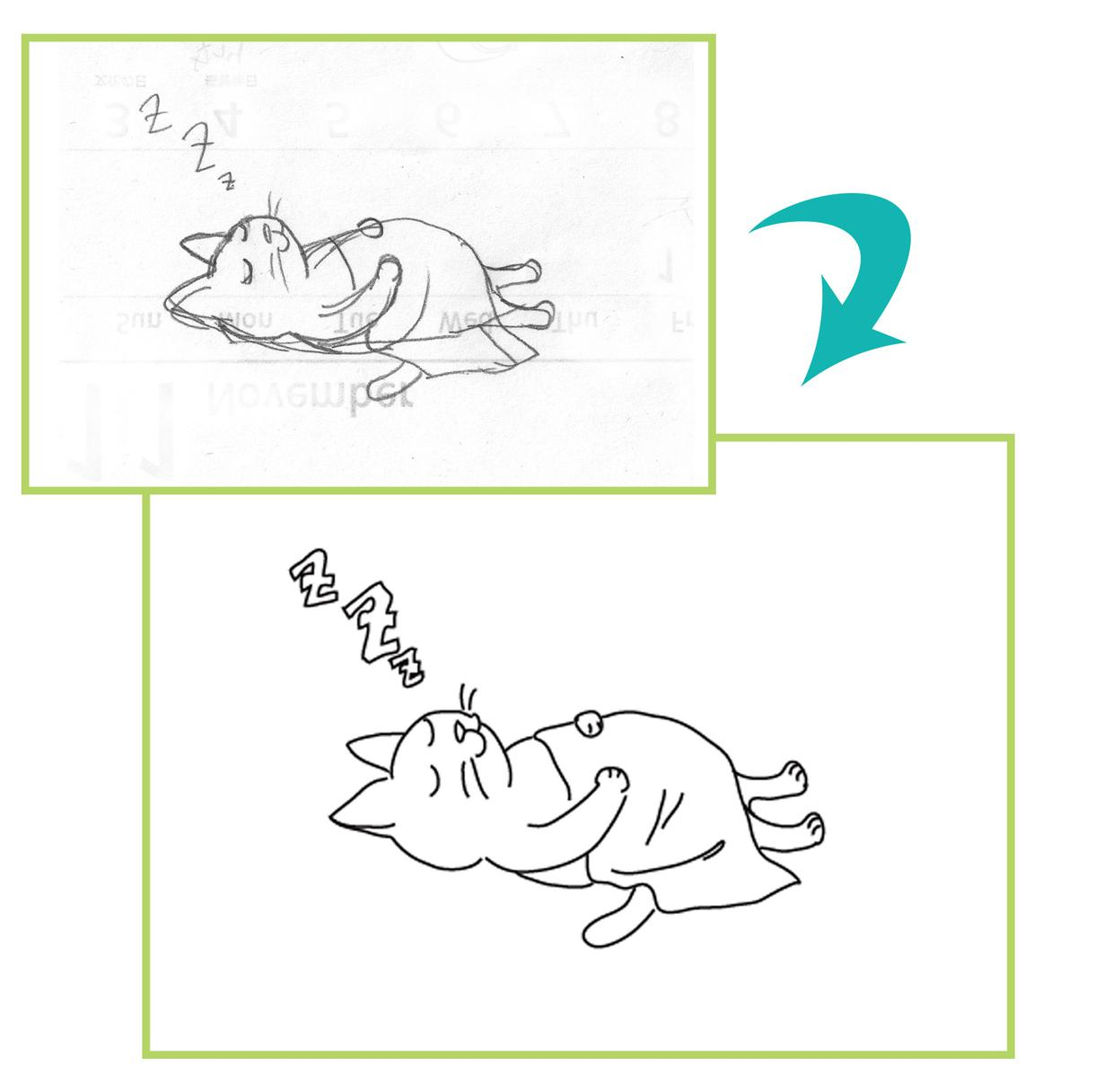手描き・低解像度の画像をトレースします アナログ画像のデジタル移行、手描きイラストのデータ化など