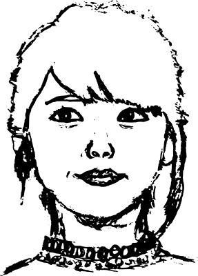 似顔絵 描きます 広告や文書などで、ちょっと目を引くワンポイントになります