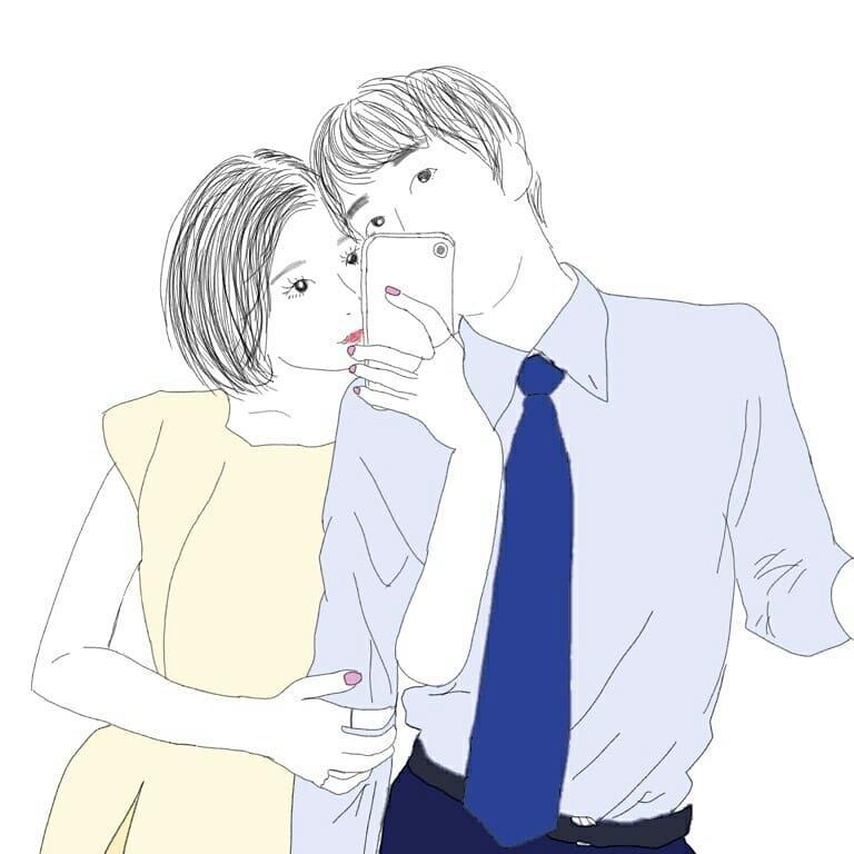 写真をもとに、アイコンやイラストを書きます ラブラブカップル、仲良しなあの子との思い出