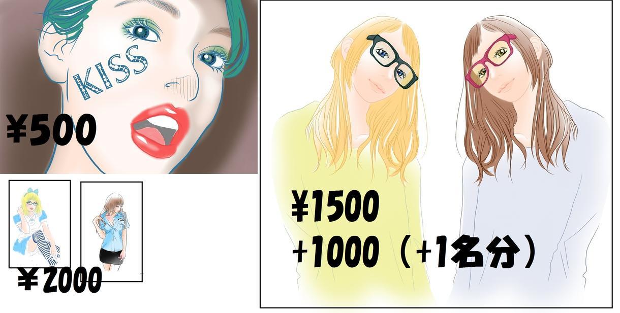 写真を模写してPCで似顔絵作成します 今までには、ポスター・結婚式用似顔絵などを描いてきました。