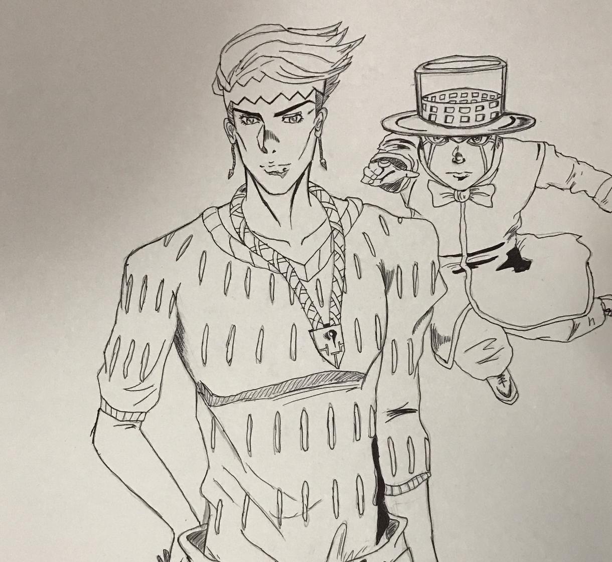 ジョジョキャラならなんでも書きます ジョジョが好きな方、アニメすきのひとイラスト画が好きな方