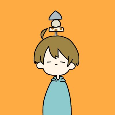 SNS用にシンプルなアイコン描きます 頭から生やしたり刺したり乗せたりします!