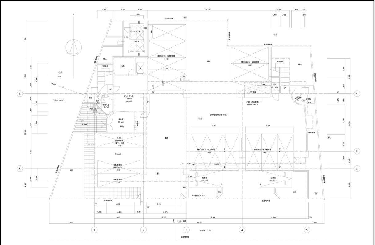 手書き図面をCAD化・PDF化に作成致します 建物の手書き図面をデータ化して、 改修時の参考図・施工図に。